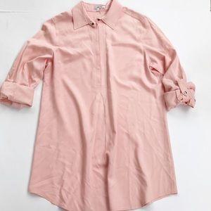 Tyler Boe Silk Shirt Dress Pink Women's Size M